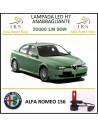 Alfa Romeo 156 lampade led H7 anabbaglianti 20000 lm 6500 k 90 w