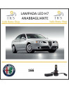 Alfa Romeo 166 lampade led h7 anabbaglianti 20000 lm