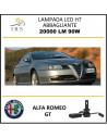 Alfa Romeo GT lampade led h7 f3 abbaglianti 20000 lm 90 w