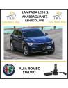 Alfa Romeo Stelvio lampade led h7 anabbaglianti lenticolare 20000 lm 90w canbus