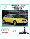 Audi A3 8l luci led h7 abbaglianti 20000 lm canbus 90 w