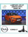 Set di luci led h7 abbaglianti per Opel Corsa e 20000 lm canbus