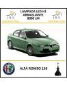 H1 abbaglianti led per alfa romeo 156 8000 lm