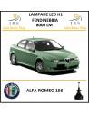 H1 fendinebbia led per alfa romeo 156 8000 lm