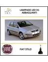 H1 lampade led abbaglianti 16000 lm Fiat Stilo