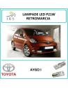 Toyota Aygo i p21w 1156 lampadina led retromarcia
