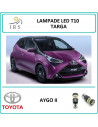 Toyota Aygo ii lampade led T10 luci targa
