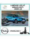 Luci led H7 abbaglianti per Opel Crossland X 20000 lm canbus