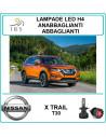 Nissan X Trail t30 lampade led h4 abbaglianti-anab. 16000 lm canbus