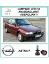 Opel Astra f lampade led h4 abbaglianti-anab. 16000 lm canbus