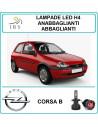 Opel Corsa b lampadine led h4 abbaglianti-anabb. 16000 lm canbus