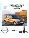 set di lampade led h7 abbaglianti per Opel combo d 20000 lm canbus