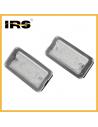 Coppia placchette targa LED 500