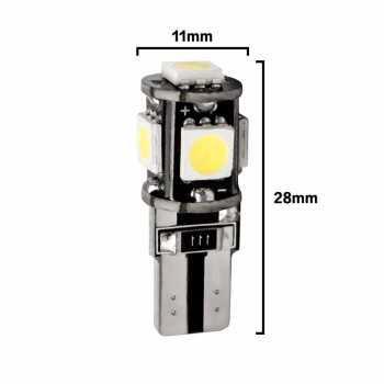 LAMPADA LED T10 W5W 5 SMD