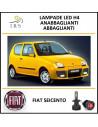 LUCI LED H4 FIAT SEICENTO ANABBAGLIANTI/ABBAGLIANTI 16000 LM
