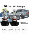 H11 modello g7 lampade led auto dissipatore in alluminio