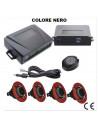 kit nero sensori di parcheggio con regolazione profondità e sensibilità e cicalino acustico