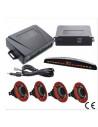 kit Bianco sensori di parcheggio con regolazione di sensibilità con display
