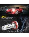 h10 modello x3 lampada led per fari auto con parabola