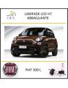 Fiat 500 l lampade led h7 dissip decentrato 9000 lm abbaglianti 6500 k