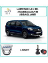 Dacia Lodgy luci led h4 abbaglianti anabbaglianti 16000 lm