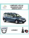 Dacia Logan I luci led h4 abbaglianti-anabbaglianti 16000 lm canbus