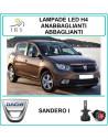 Dacia Sandero I luci led h4 abbaglianti e anabbaglianti 16000 lm