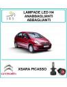 H4 luci led Citroen Xsara Picasso 8000 lm abbaglianti/anabbaglianti
