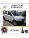 luci led per auto attacco h4 Fiat Panda II anabbaglianti