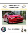 Alfa Romeo 155 lampade led H1 anabbagliante 5000 lm