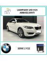 BMW serie 2 F22 luci led per auto diurne abbaglianti h15 led canbus